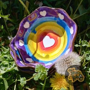 Rainbow Ruffle Bowl