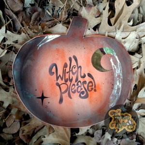 Witch Please! Pumpkin Plate