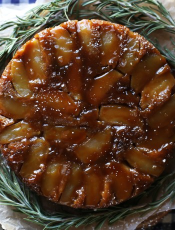 Browned Butter Apple Upside-Down Cake