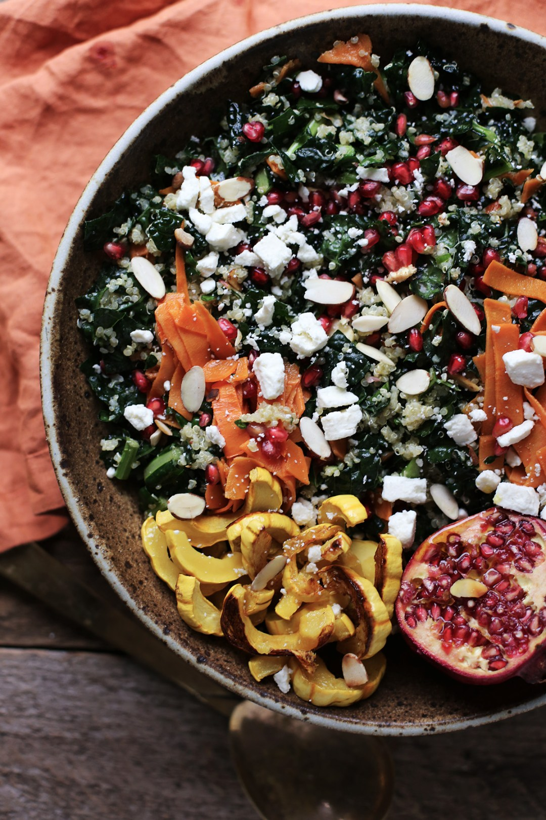 Autumnal Kale and Quinoa Salad