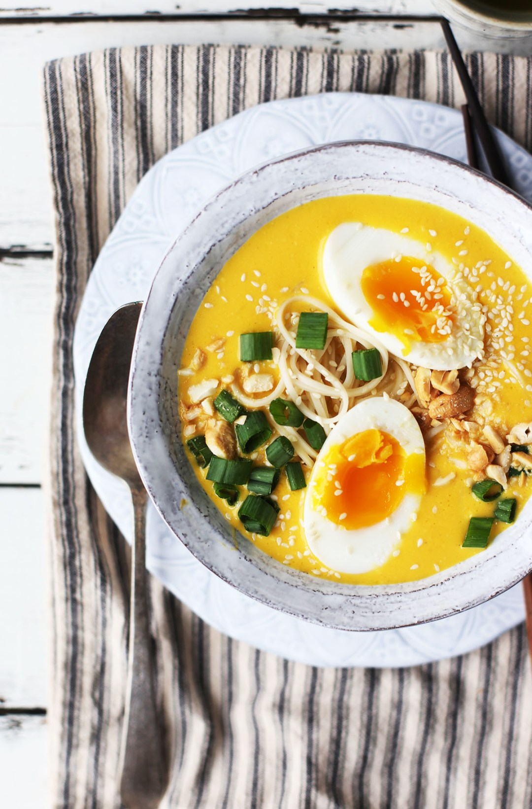 Crockpot Carrot Ginger Cashew Ramen Noodle Soup