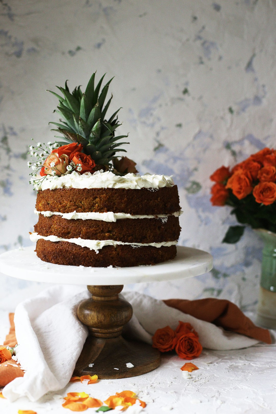 Pineapple Coconut Carrot Cake with Sweetened Condensed Milk Frosting