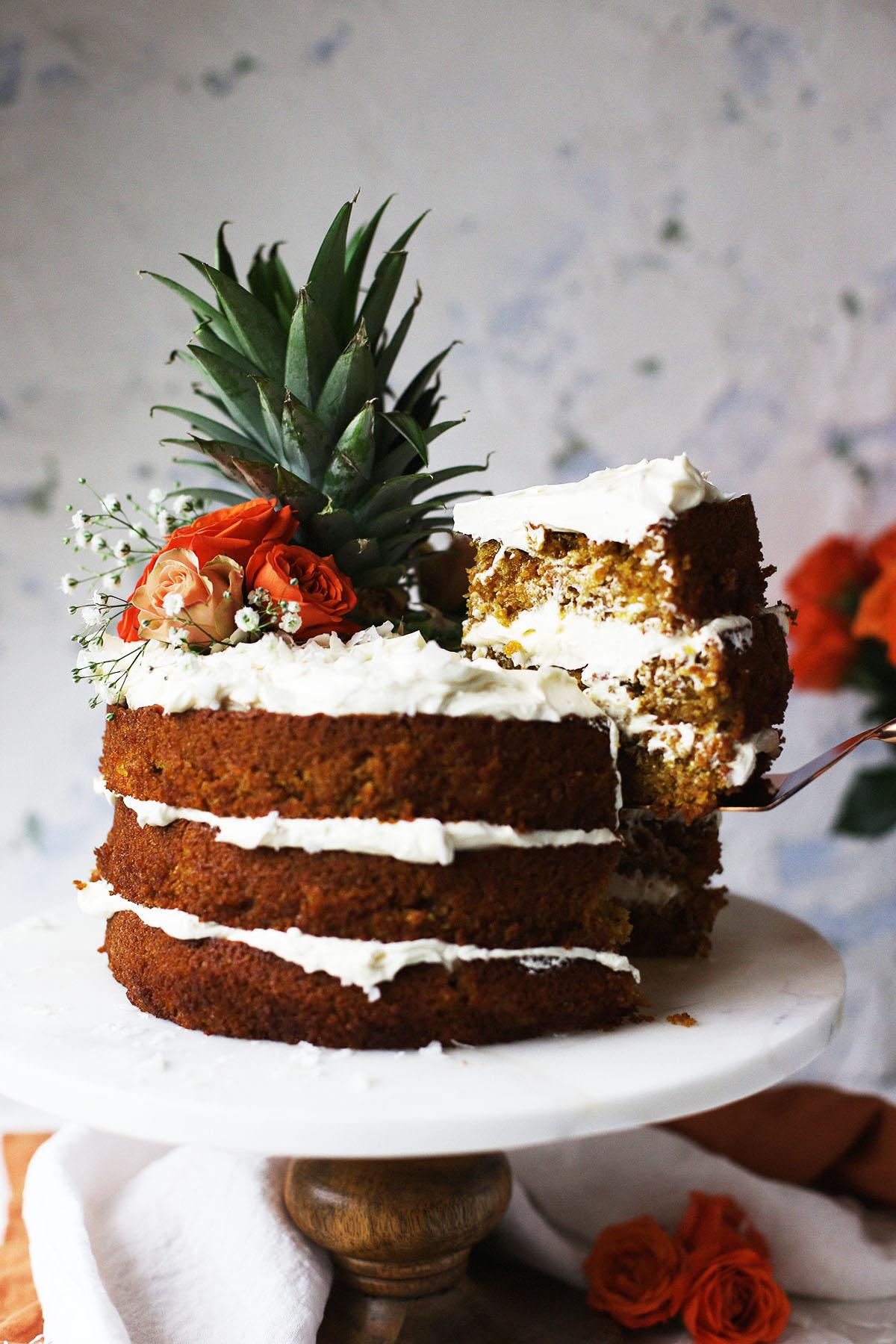 Cake Condensed Milk Pineapple