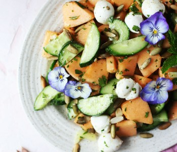 Cantaloup and Cucumber Salad