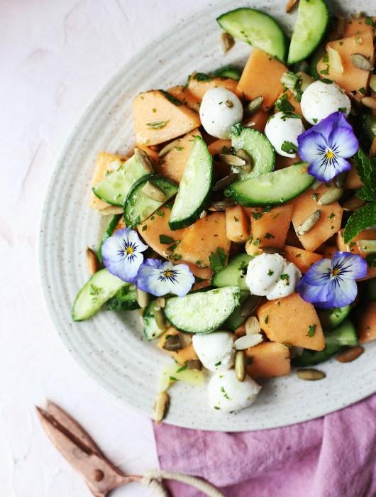 Cantaloup and Cucumber Salad