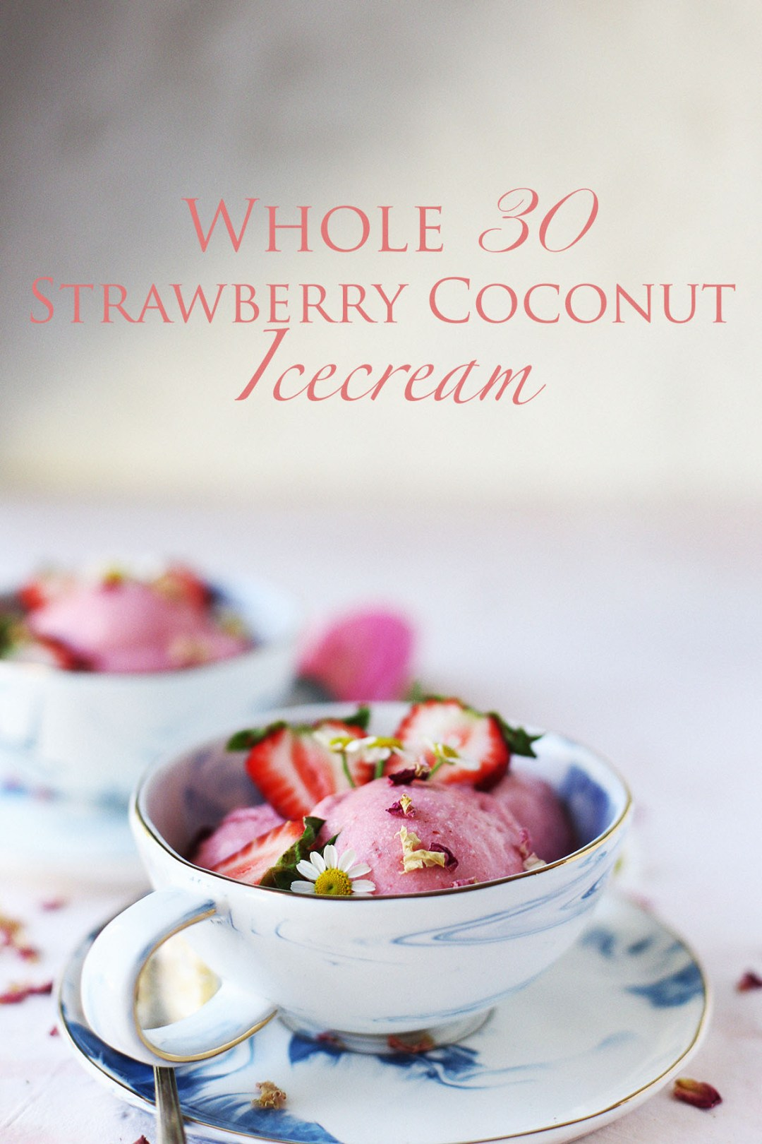 Whole 30 Strawberry Coconut Ice Cream