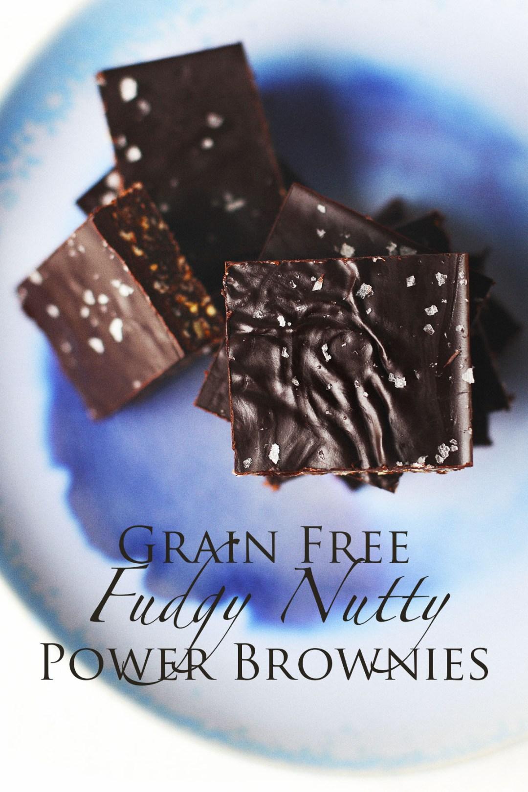 Grain Free Fudgy Nutty Power Brownies