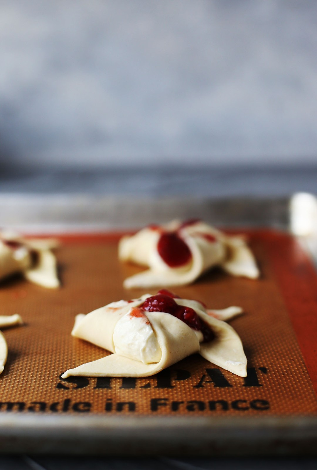 Strawberry Rhubarb Ricotta Cheese Danish Pinwheels