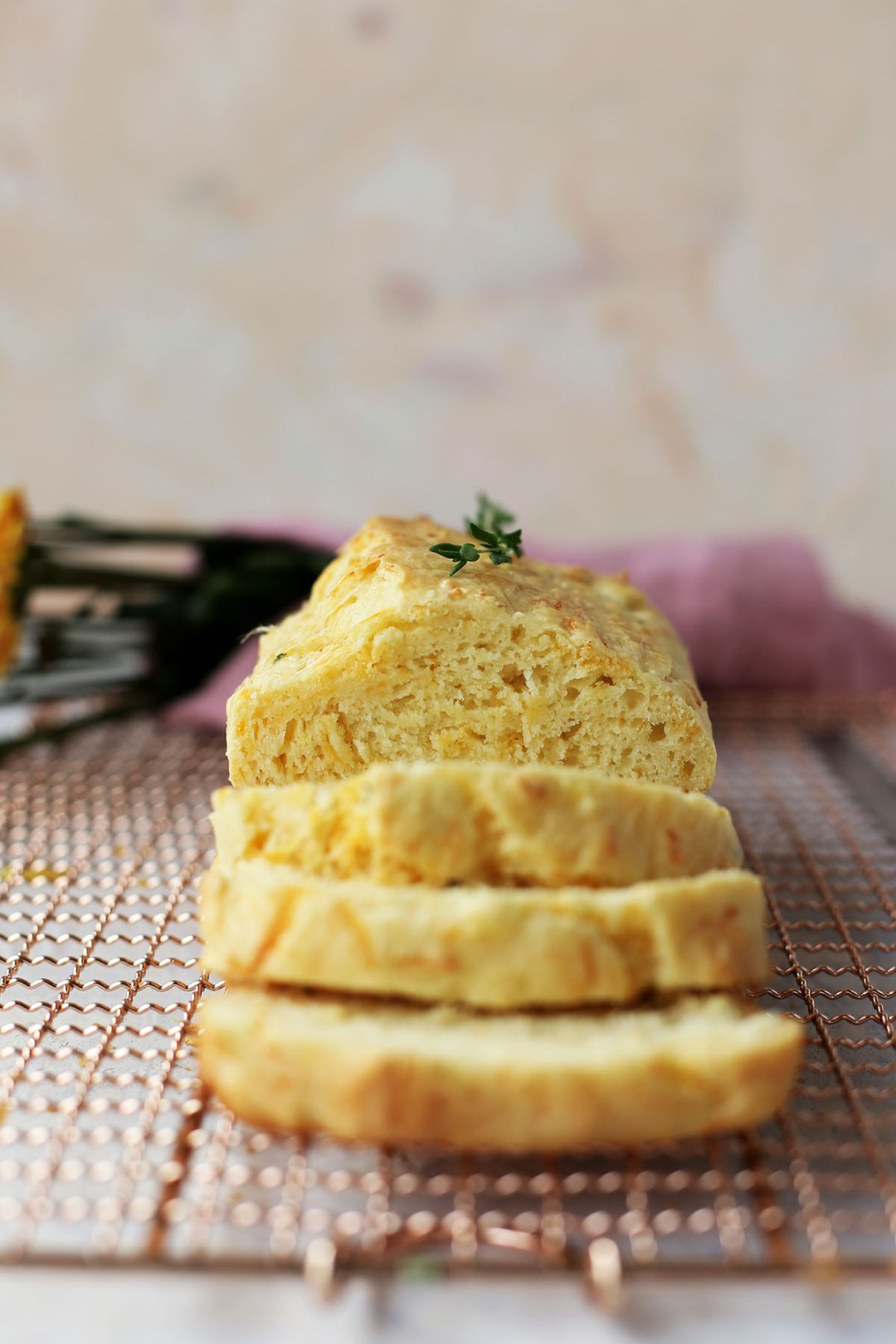 Cheddar Thyme Quick Bread