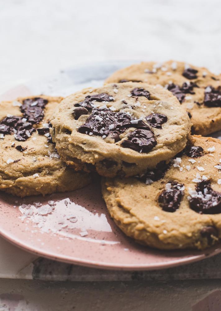 Jumbo Peanut Butter Chocolate Chip Cookies
