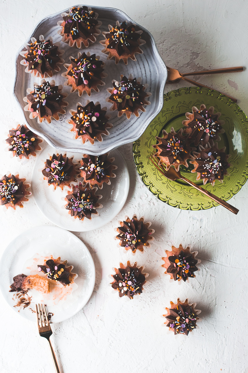 Beet Root Cupcakes with Chocolate Frosting