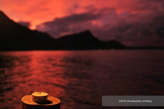 suasana romantis di pantai ora maluku