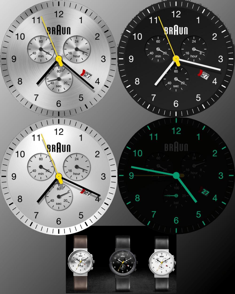 BRAUN Chronograph black/silver/white bn0035