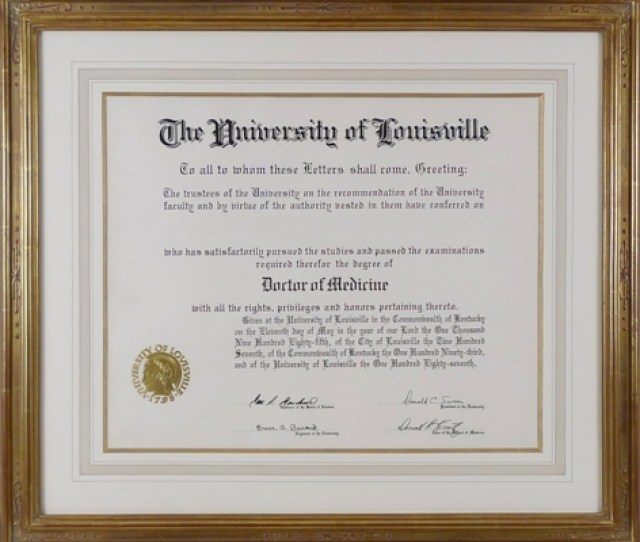 Re Framing Diploma Custom Gilded Picture Frame With French Mat