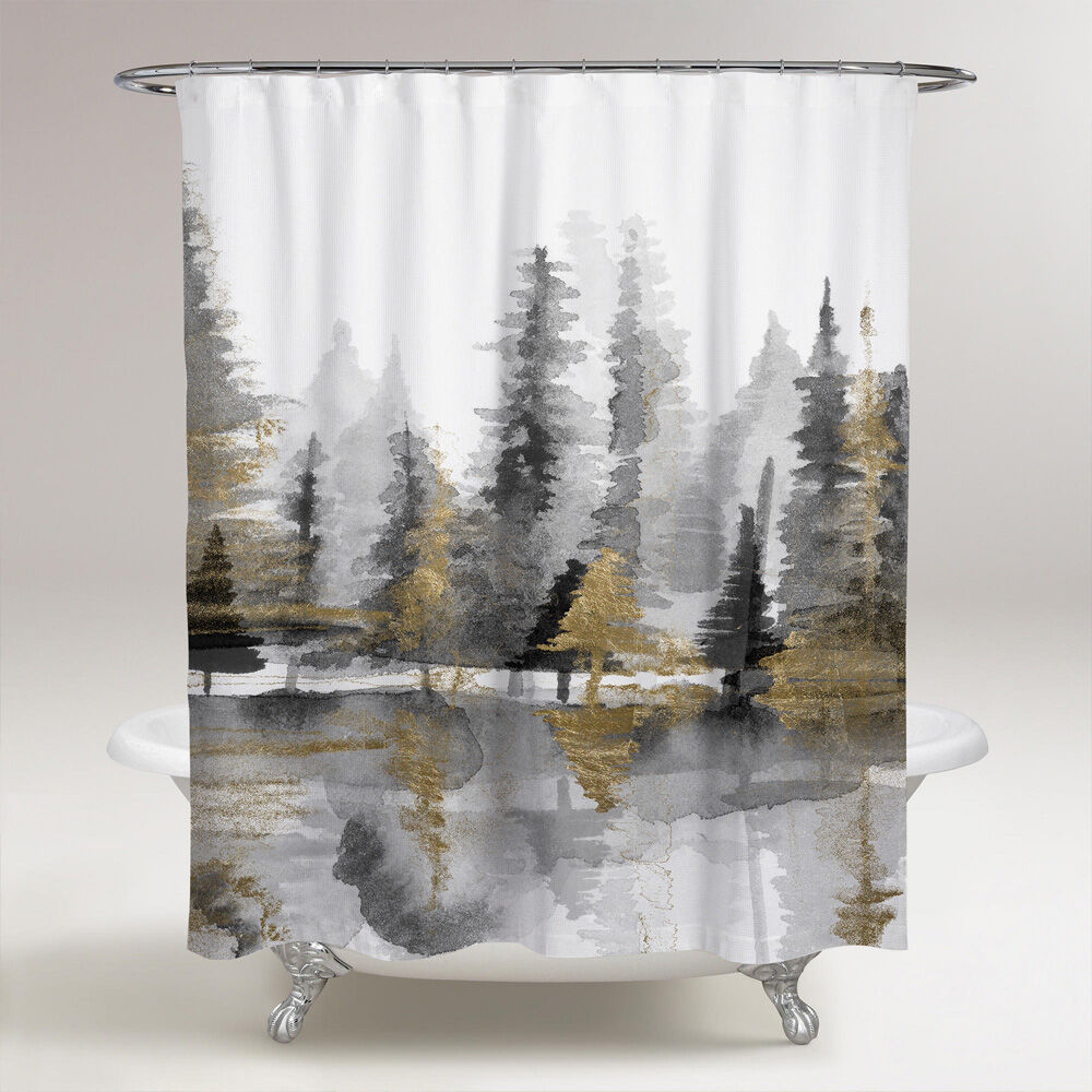 golden reflection iii shower curtain wall art by oliver gal