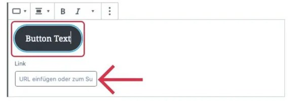 WordPress Button einfügen und bearbeiten