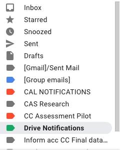 Drive notifications screenshot