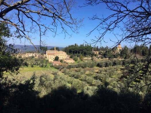 Le petit village de Montepescini près de Murlo