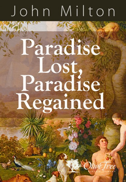 Paradise Lost Paradise Regained By John Milton For The