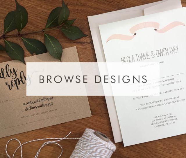 Beautiful Personalised Wedding Invitations And Stationery Olive Weddings