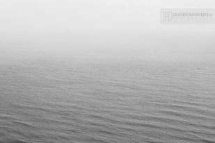 Photo de la Mer du Nord dans le brouillard