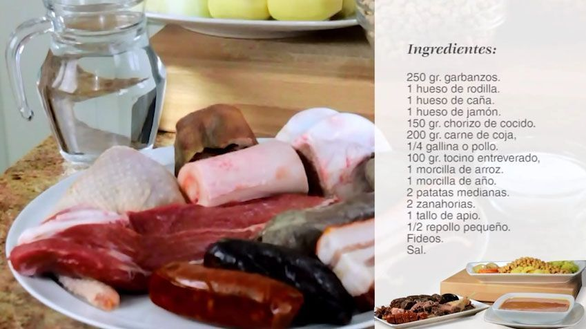 cocido madrileño en olla express magefesa clasica