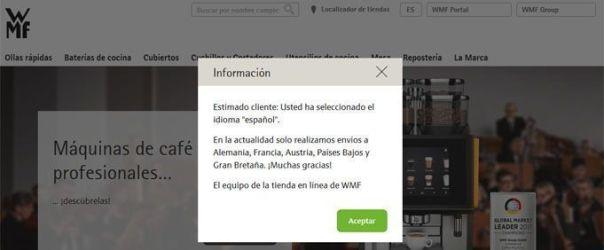 wmf no hace envíos a España