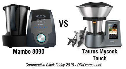 Robot de cocina Mambo 8090 vs Taurus Mycook Touch