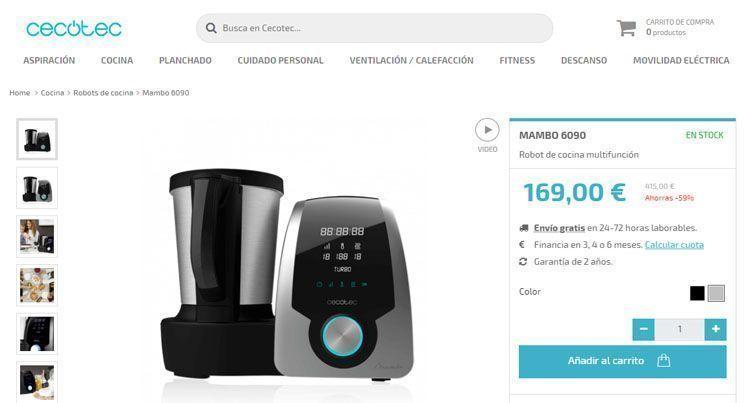 Mambo 6090 precio - comparativa 6090 vs 8090