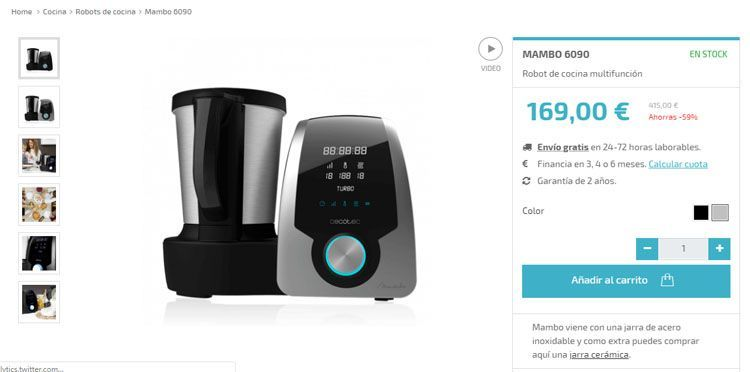 Robot de cocina Mambo 6090 vs 8090 vs 9090