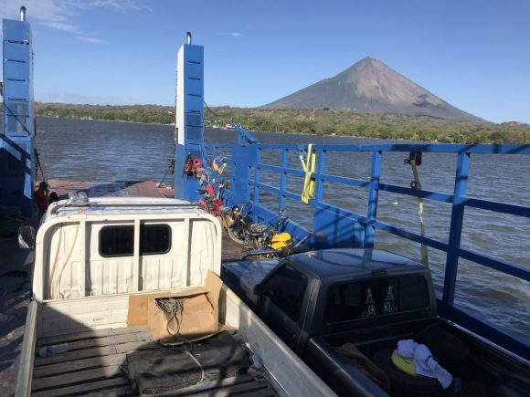Goodbye Ometepe Island from the ferry