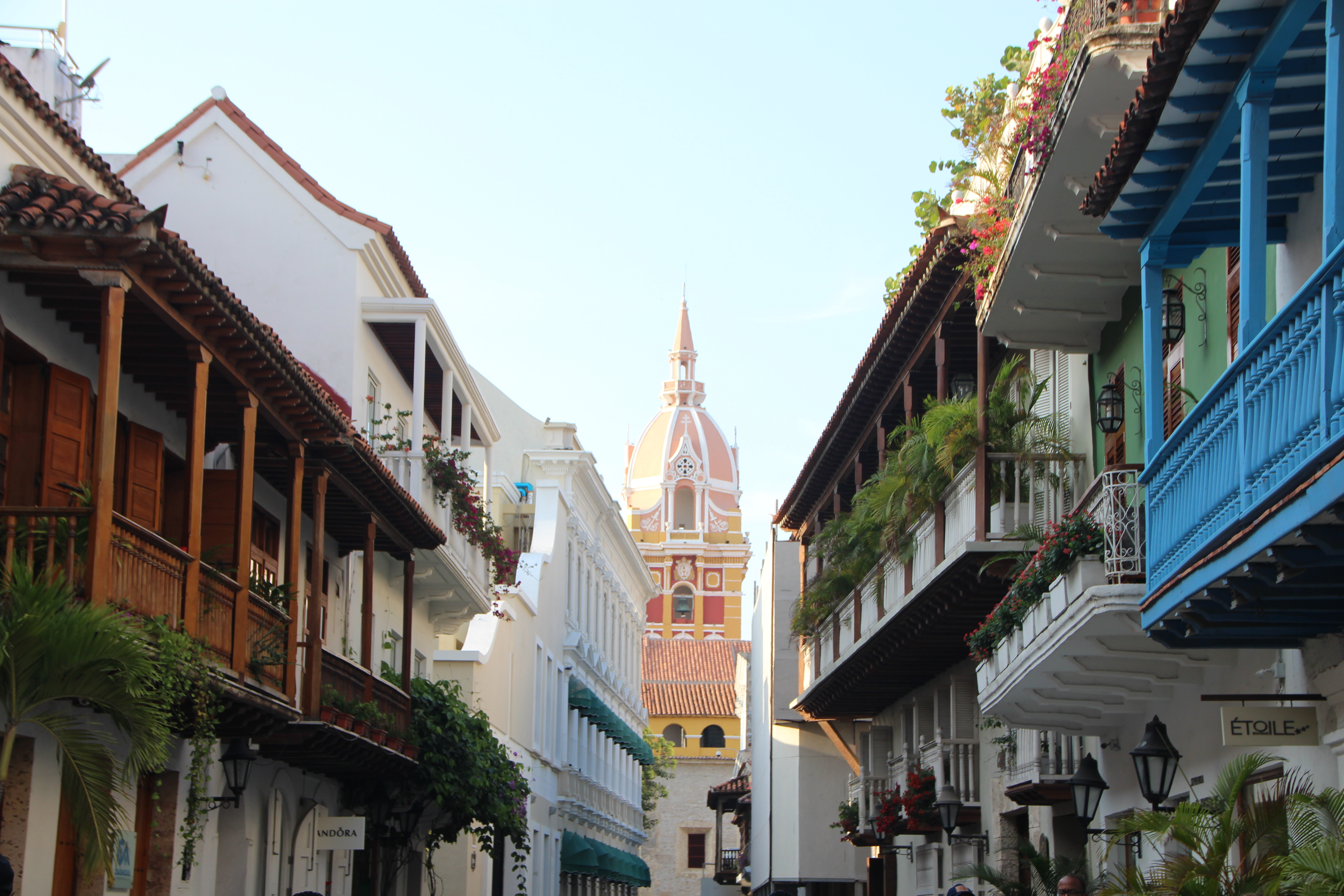 Inside the walled city - Cartagena