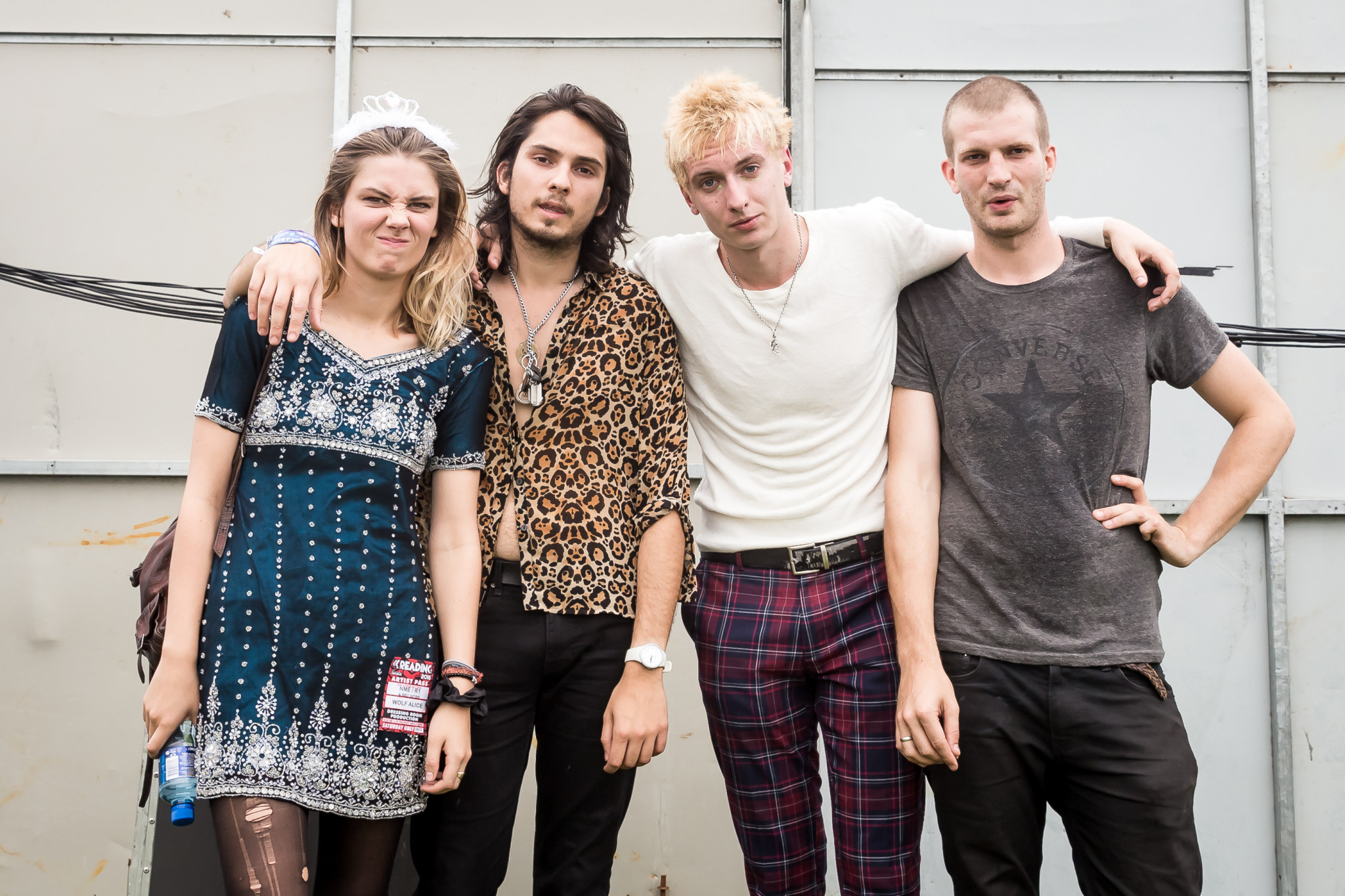Wolf Alice backstage at Reading Festival, Berkshire, Britain - 29 Aug 2015