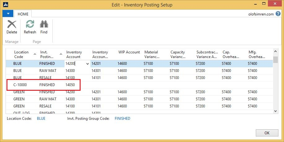 Customer-Location-Inventory-Posting-Setup-Dynamics-NAV