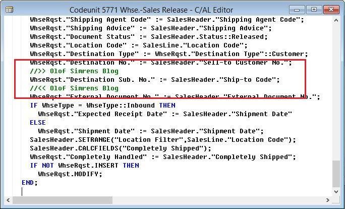 Whse-Sales-Release-Code-Dynamics-NAV