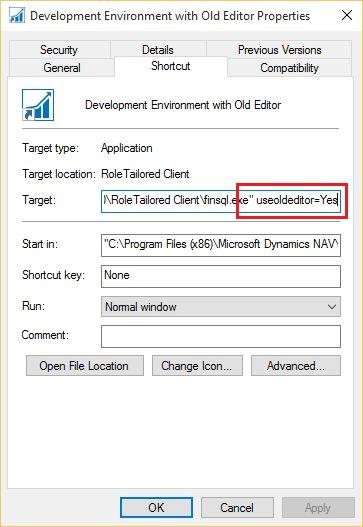 Use-Old-CAL-Editor-Dynamics-NAV-2016