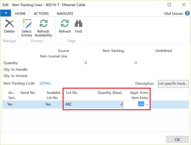 item-tracking-reverse-consumption-dynamics-nav