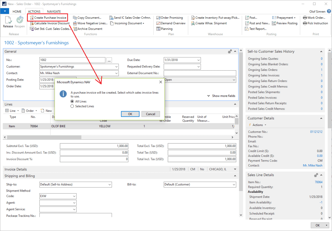 create-purchase-invoice-from-sales-order-dynamics-nav-2017