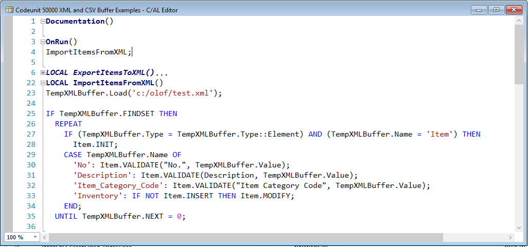Xml buffer and csv buffer tables microsoft dynamics nav community i found it easier just to go through the records in the table something like below which might not be the best written code but at least an example urtaz Image collections