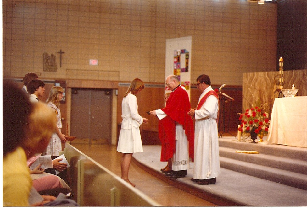 Views of the church in 1978 at the confirmation mass.