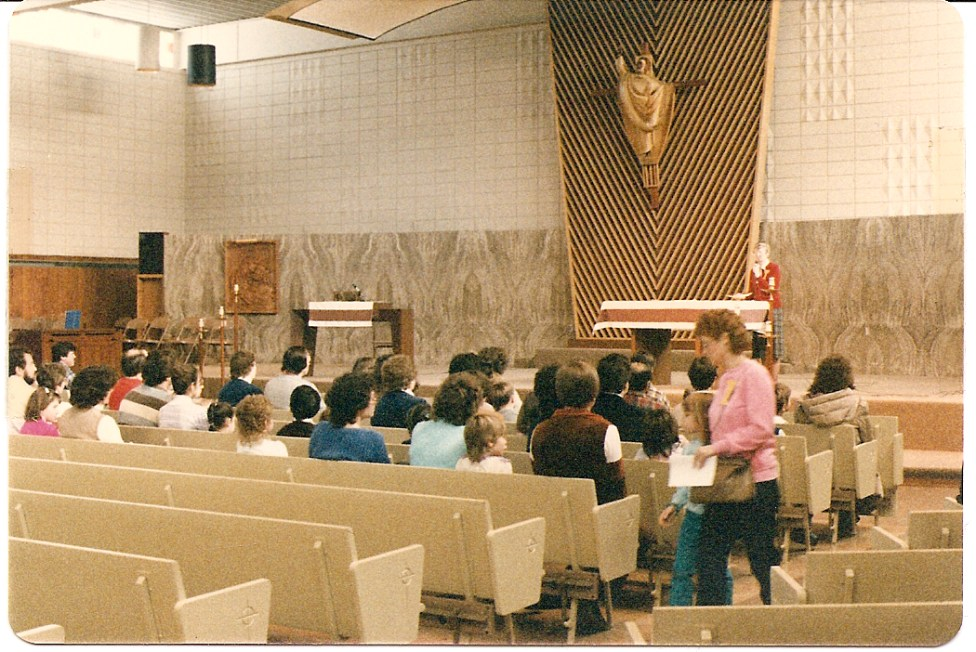 The church as it was in the mid 1980s.