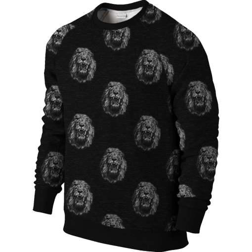 African print sweatshirt