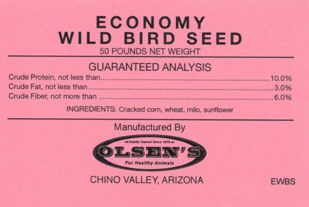 Wild Bird Seed Economy Mill Tag