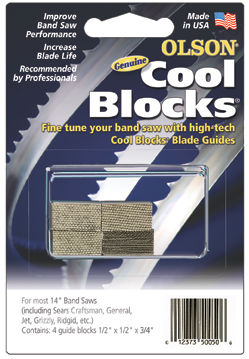 Cool Blocks band saw blade guides
