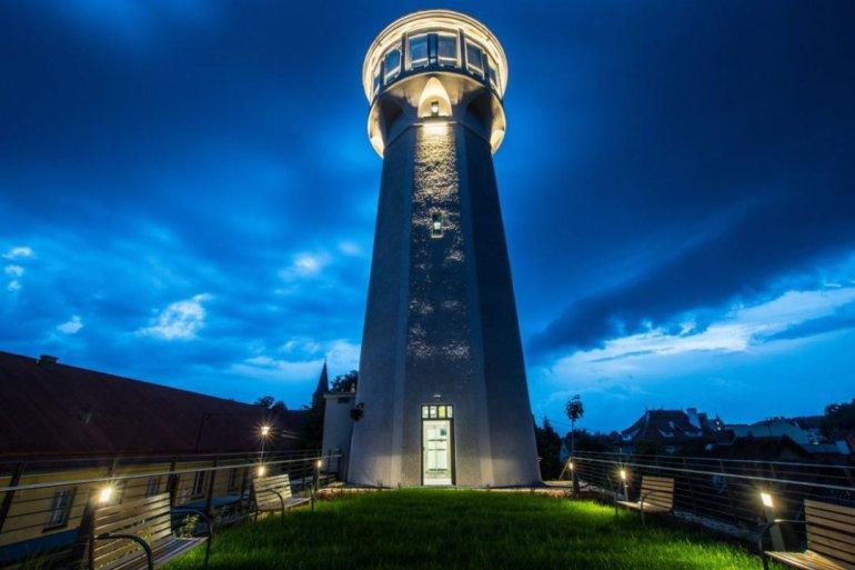 Odnowiona wieża ciśnień w Olsztynku w końcu... - Olsztyn