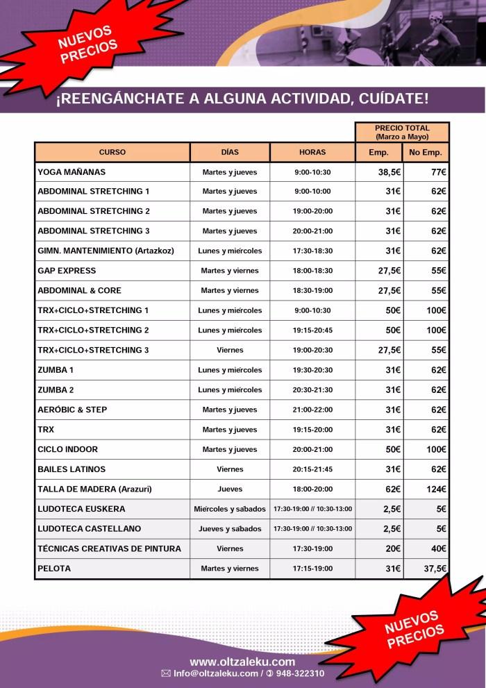 Actividades Cendea de Olza Marzo-Mayo 2016 (50%)