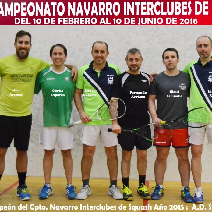 Cartel XXVII Cto. Navarro Interclubes de Squash 2016