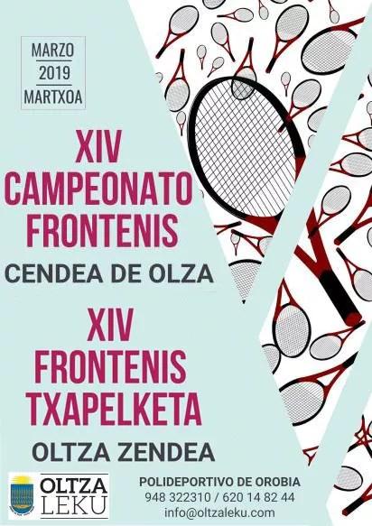 Campeonato frontenis frontenis txapelketa oltza ororbia