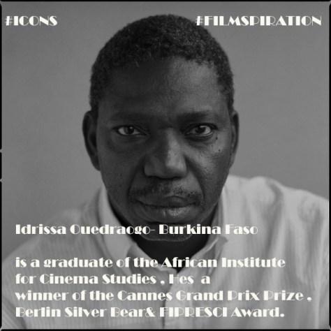 Idrissa Ouédraogo, film director from Burkina Faso, Ouagadougou, 2004.