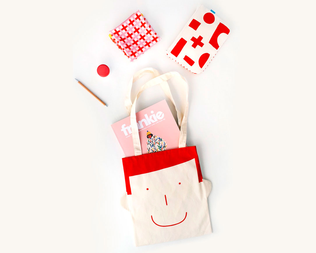 Tote bag Sam in red